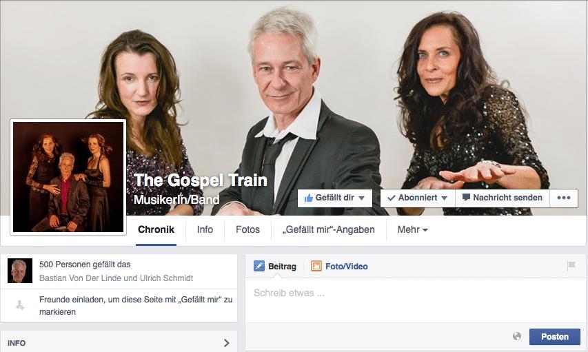Der Gospel Train im Facebook